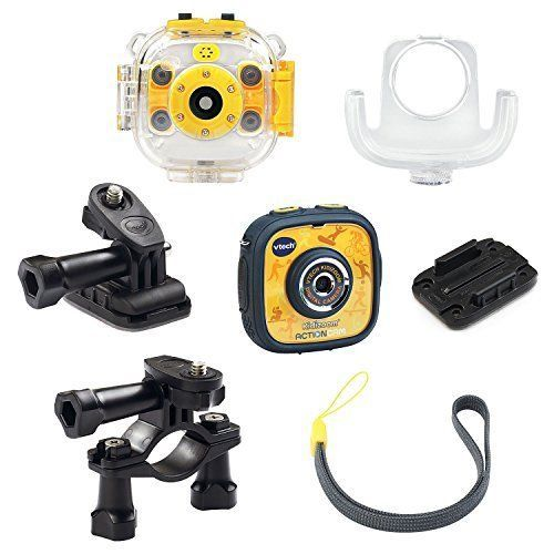Kids Action Camera Durable Waterproof Preschool Photos Videos Toy Yellow/Black  #VTech