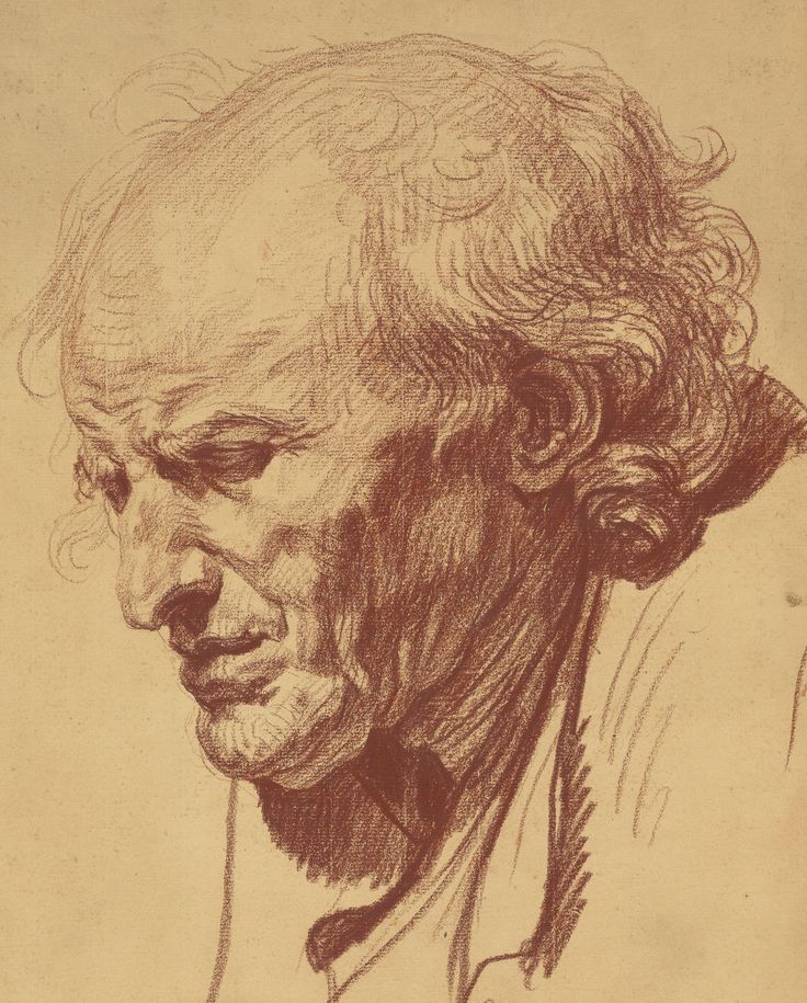 study of the head of an old man Jean-Baptiste Greuze