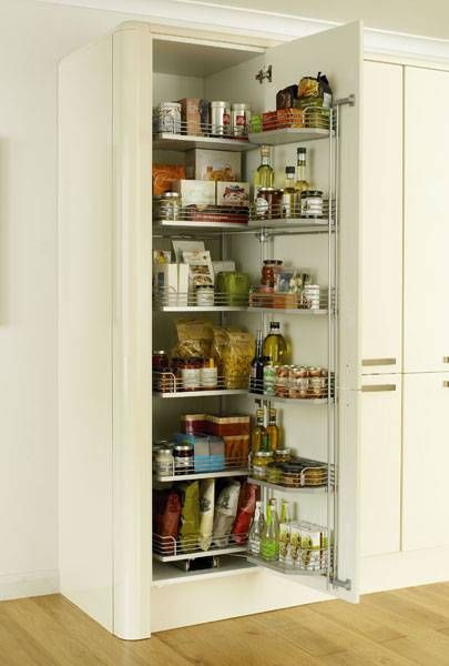 Full height pull swing larder 500mm storage solutions for Kitchen cabinets 500mm