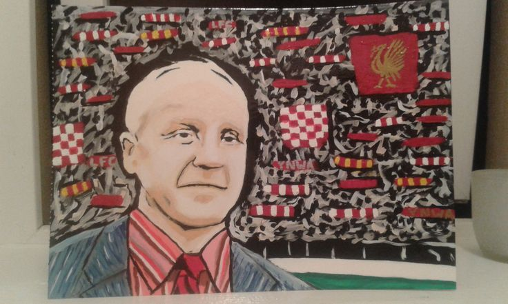 My acrylic painting of #LFC legend Bill Shankly