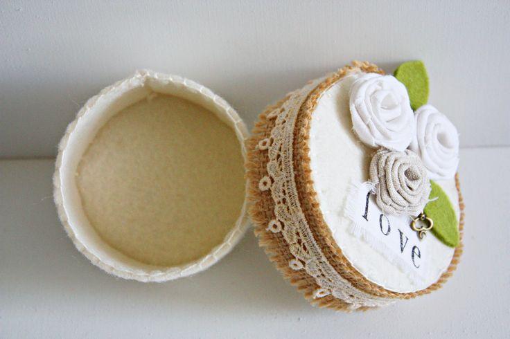 Wedding Favors/Rustic Wedding Favors/Wedding Ring Box/Engagement Ring Box/Party Favors/Wedding Bomboniere/Felt Favors/Gift Box/Felt Box by FeltGoodiesShop on Etsy