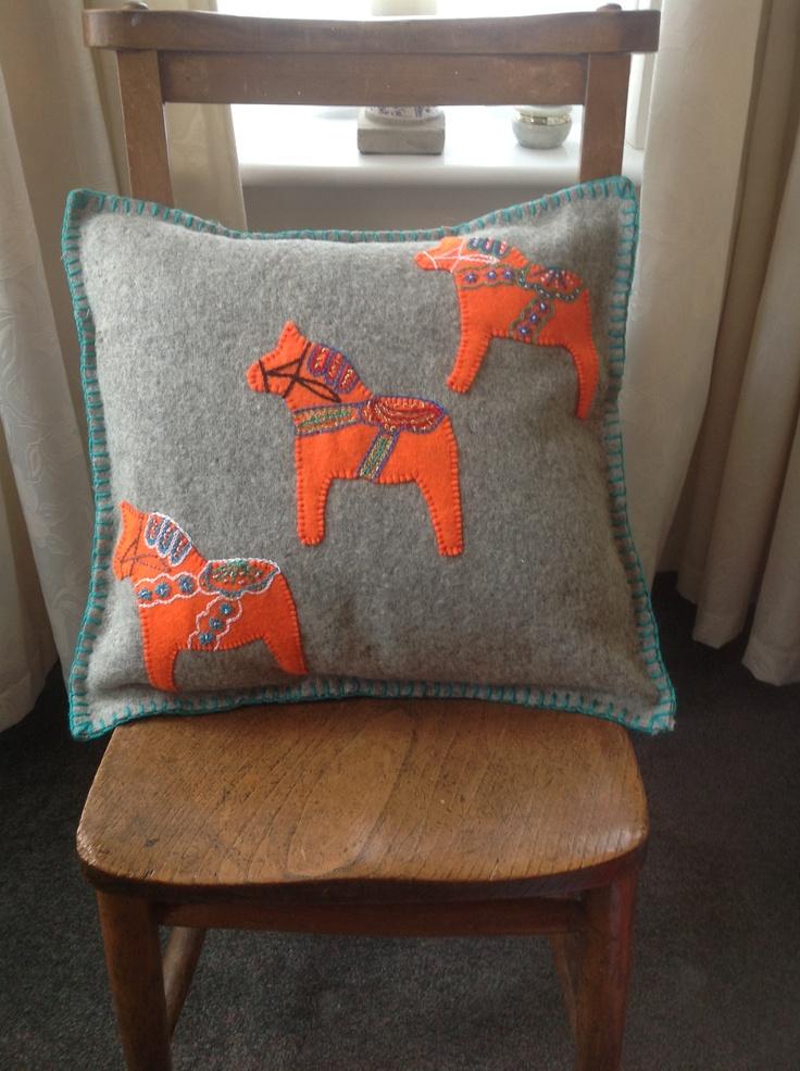Dala  horse cushion