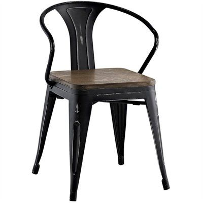 #ad #decore #chair Description Usher in eclectic decor with the Promenade Armchair in black. Complete with a vintage distressed finish and bamboo seat, it exhibits the charm of the classic bistro while upgrading your breakfast nook or dining room with a modern piece that breathes exceptionalism. Mix-and-match with a chair that transforms eating spaces and enlivens coffee time