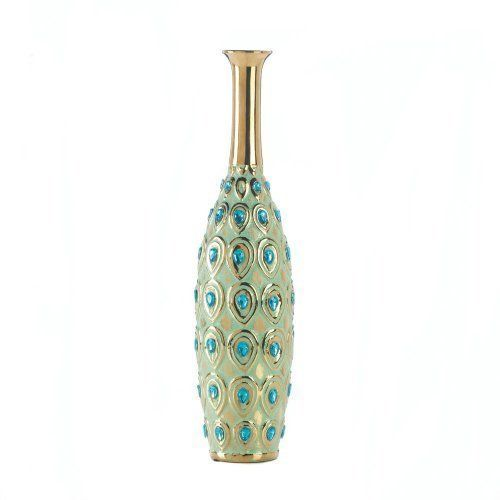 Home Decor Peacock Long Neck Jewel Vase For More Information