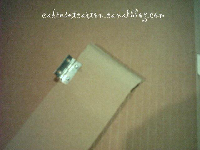 Portes avec charni re et loquet - Comment peindre une boite en carton ...