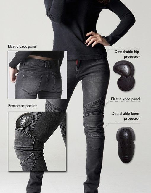 Biker jeans that are actually designed for protection without being fugly...could be worse.