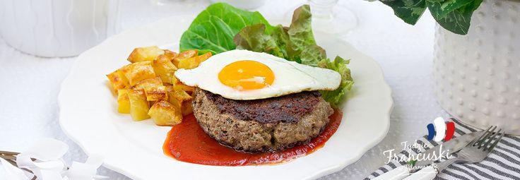 Bifteck haché de cheval - francuski burger z jajkiem #intermarche #jajko