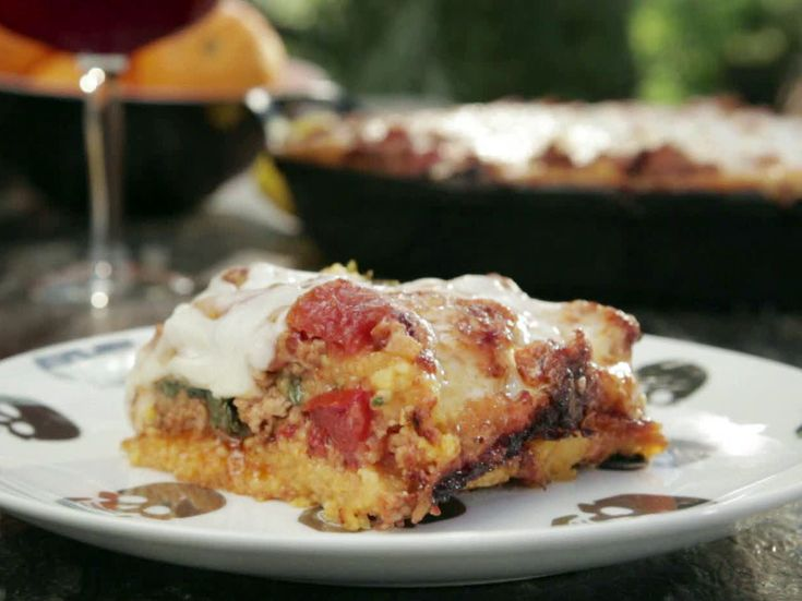 Chorizo and Polenta Lasagna