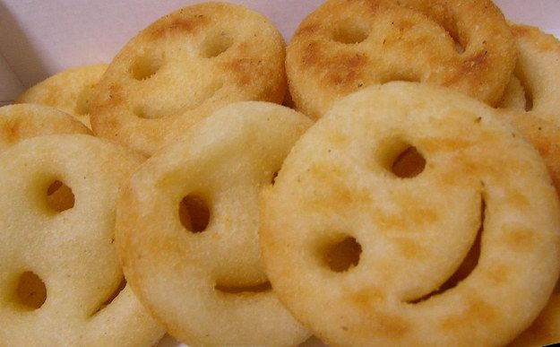 Smiley fries. Not the best tasting fries, but I ate them with ketchup and mustard mixed together in elementary school