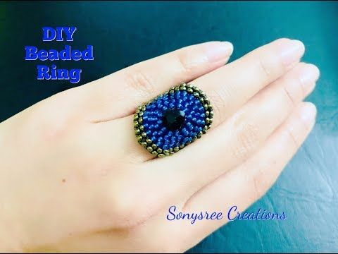 Circular brick stitch Ring Beaded Ring - YouTube
