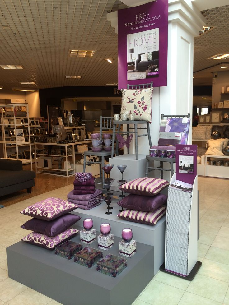 "Debenhams Glasgow Home hotspot highlighting the ""pink & berry"" trend in collaboration with the Home catalogue launch Retail VM 