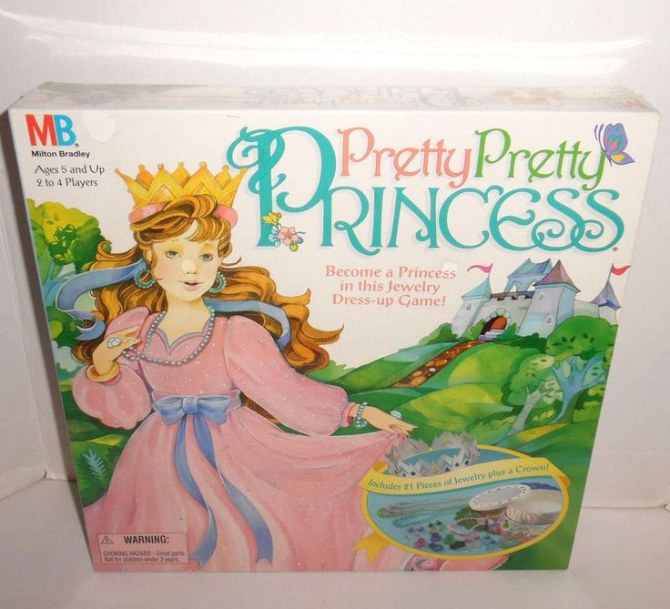 pretty pretty princess game 1995 factory sealed dress up vtg milton bradley 4250