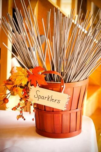Sparks fly when two people fell in love. Fall/October wedding <3  Found the perfect Fall wedding idea??? We can create the favors to match  Visit us at DaSweetZpot.com