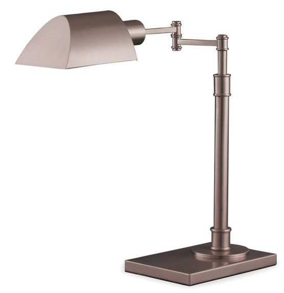 Maxim Table Lamp || A vintage contemporary lamp, great for matching nightstands or as a desk lamp. cort.comLights Lamps, Table Lamps, Arm Tables, Lamps Lights, Floors Lamps, Tables Lamps, Lightandfixtur Tablelamp, Desks Lamps, Contemporary Lamps