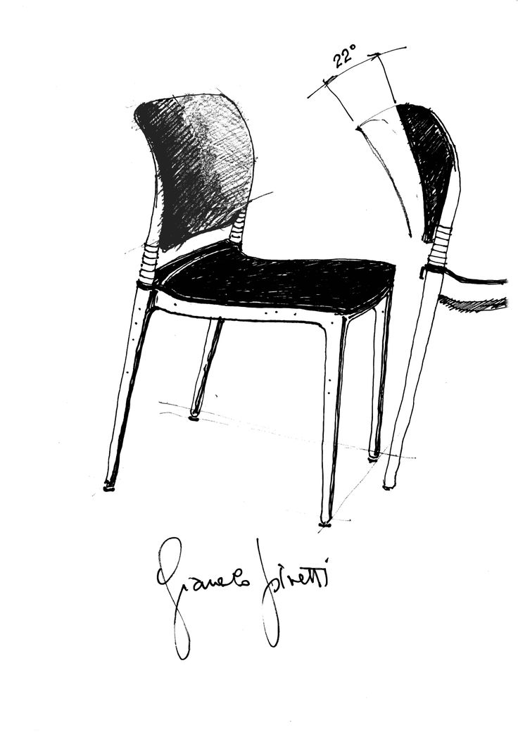 Segis - E-motion, designed by Giancarlo Piretti. Finding out how a chair is born. First of all it is a #sketch on a sheet where is explained the #mechanism of the flexible back and the articulated elements. If those elements are not perfectly aligned, the chair doesn't flex well we do start again with a new prototype.