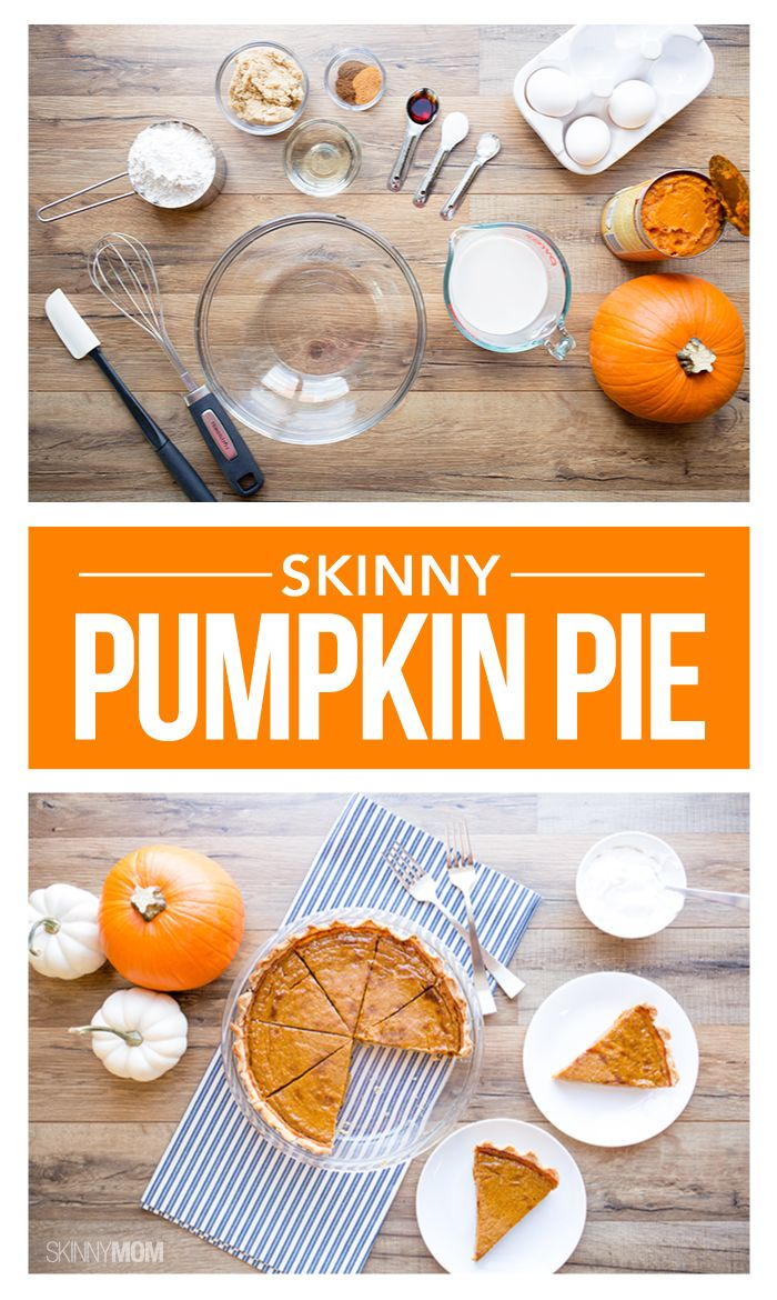 Recipe: Skinny Pumpkin Pie | Posts, Pumpkin pies and Pumpkins