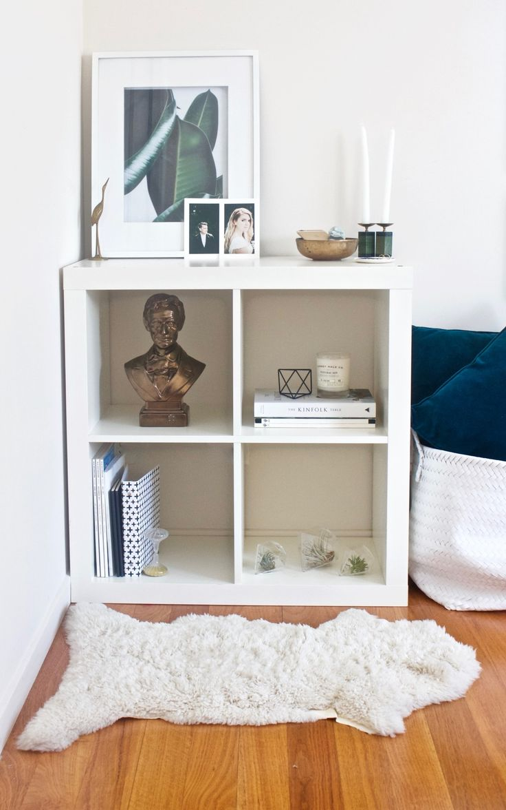 3 Ways To Style Ikea S Kallax Shelf From Gold Blog H
