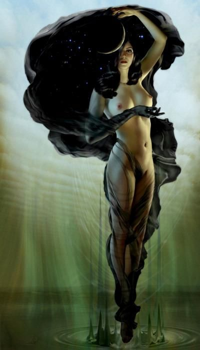Greek goddess of the night, Nyx. Art by Jeff Wack. Favorite pic of Nyx of all