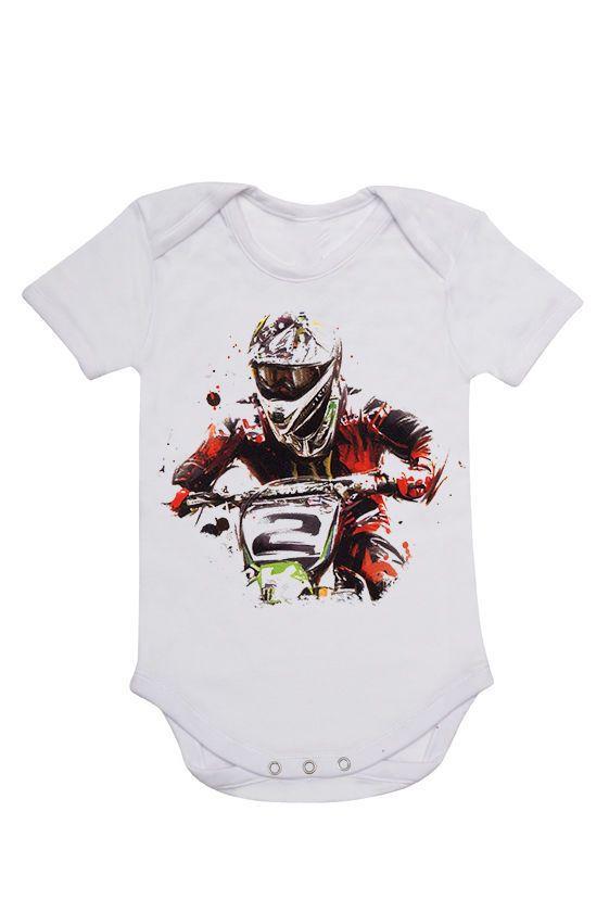 MOTOCROSS BABY ONESIE NEW BOY OR GIRL MOTORBIKE KIDS CLOTHING