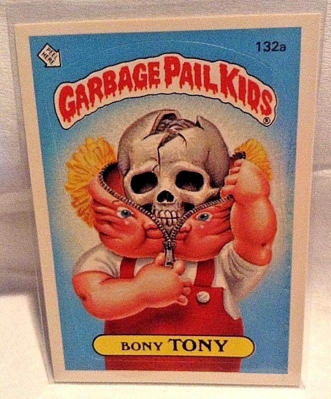 1986 Garbage Pail Kids Bony Tony 132a 1986 Os4 Original Series 4 Gpk Topps Topps Garbage Pail Kids Kids Pail