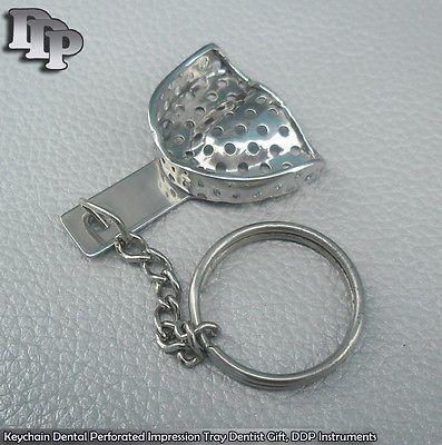 Keychain Dental Perforated Impression Tray Dentist Gift, Instruments