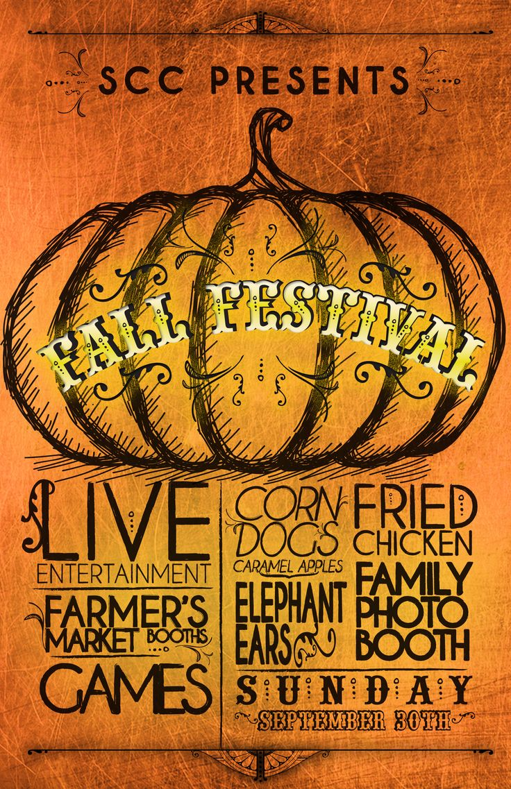 Jenna Webb Posters Fall festival poster--use this typography! via ...