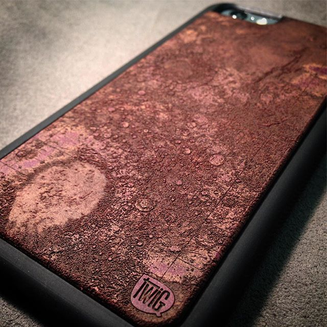 Introducing our newest case, #Mars! We use actual #NASA elevation data, laser engrave it on our exclusive Mars Red #Richlite so you can feel the surface yourself! Take this #Opportunity, and engage your #Curiosity with this unique #iphonecase!  #laserengraved #nasa #viking #mars #theredplanet #themartian #godofwar #space #planet #maps #iPhone6s #iPhone6 #twigcase #makeitwithpaper #strongerthanwood #findtheufo #burroughs #engraved #bowie #lifeonmars #atmosphere #topography