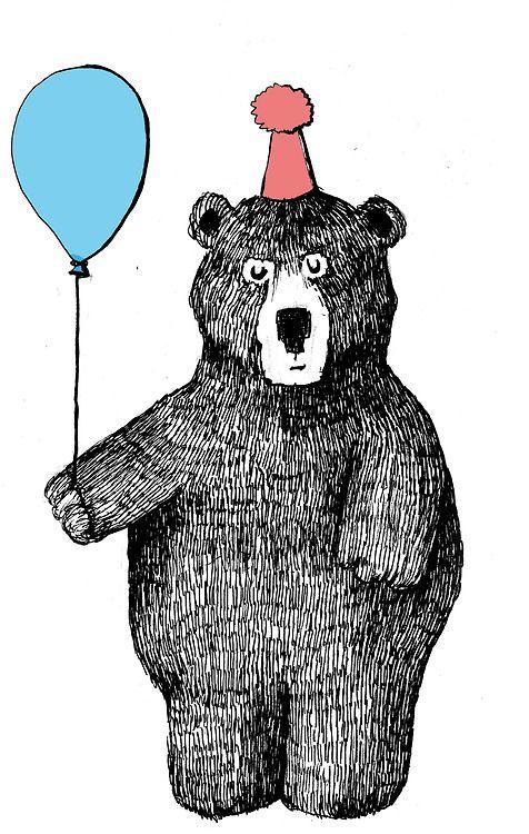 С днем рождения картинка с медведем
