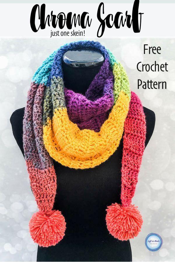 Crochet Chroma Scarf Free One Skein Mandala Yarn Pattern