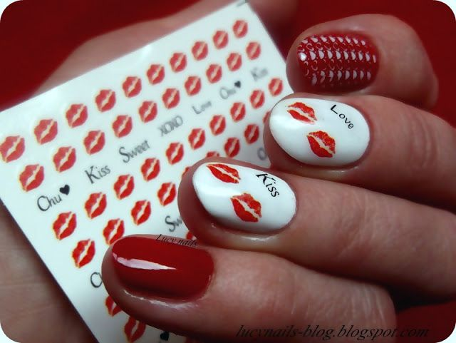 Naklejki całuski od EDbeauty -Profesjonalne ozdoby do paznokci