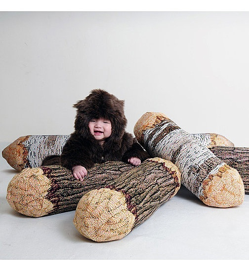 Oh my goodness - log pillows. Yes, please!