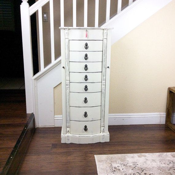 FABULOUS JEWELRY ARMOIRE Tall Jewelry Box Stand Up by ShabbyShores