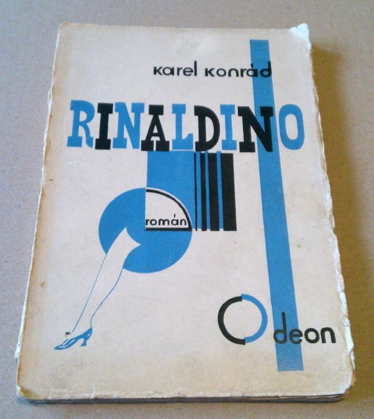 Czech avant-garde cover MRKVICKA TEIGE 1927 RINALDINO signature Karel KONRAD