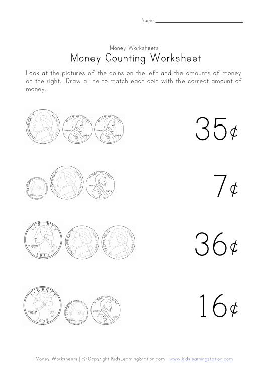 counting money worksheet one grade 2 math pinterest counting money worksheets money. Black Bedroom Furniture Sets. Home Design Ideas