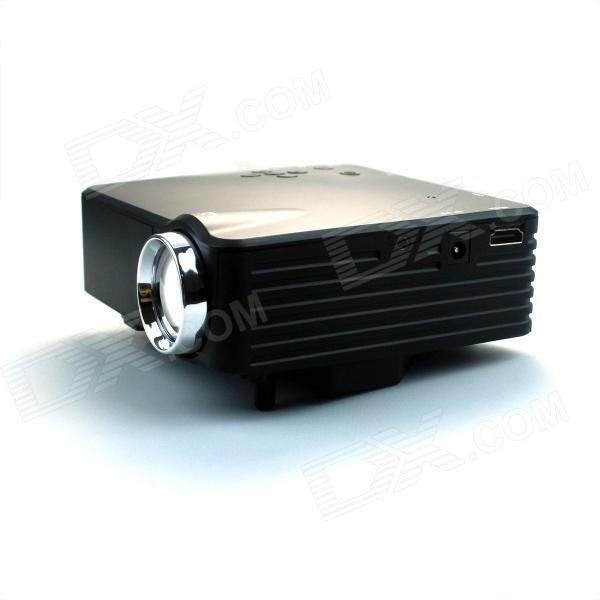 Moonsun GP7S Mini Projecteur LED w / HDMI / VGA / USB / Vidéo / SD - Noir
