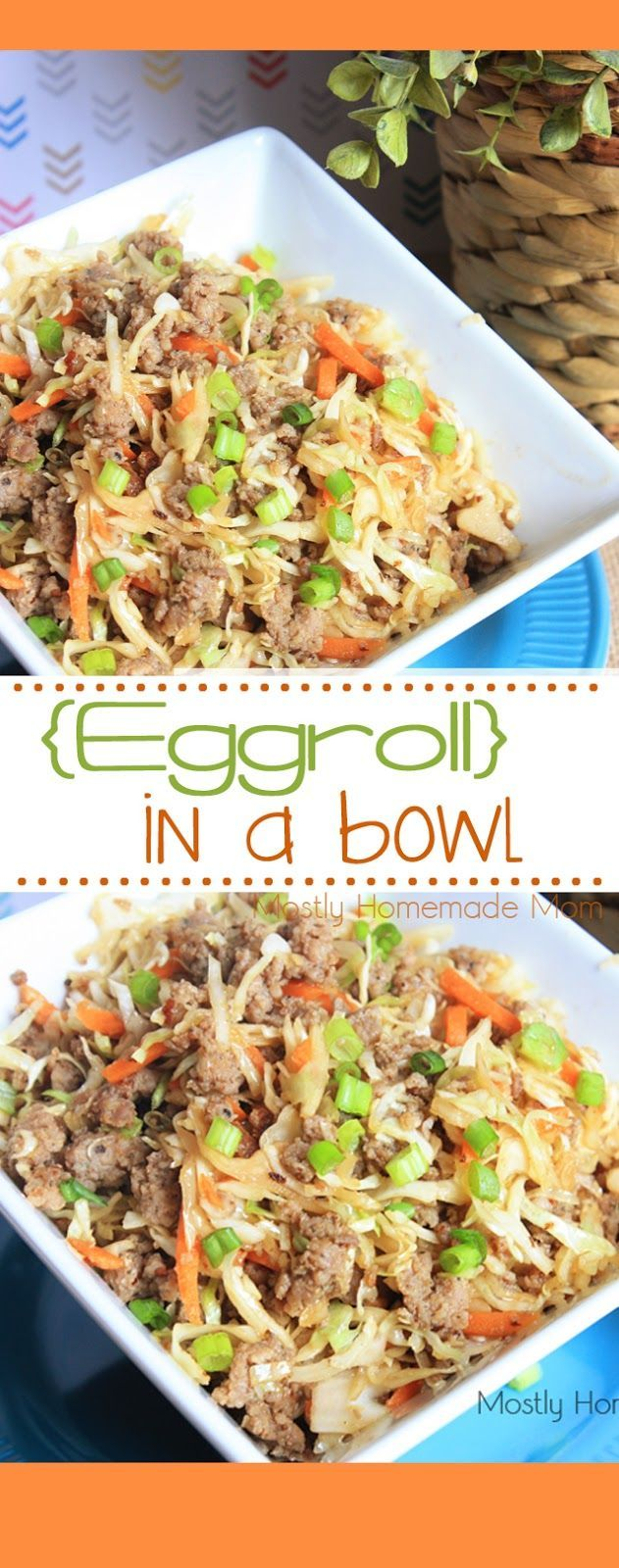 Eggroll In A Bowl - Double the slaw mix and maybe use low sodium soy sauce.  Would be great as filler for lettuce wraps! Delish