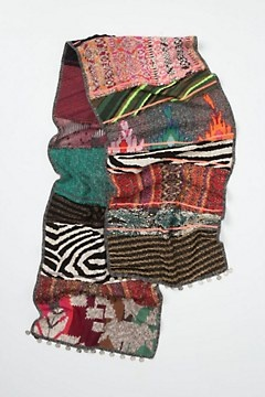 $118 ...Lets DIY this shall we???Sequence Patchwork Scarf (from old sweaters & scarves)
