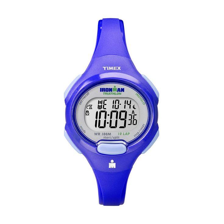 Timex Women's Ironman 10-Lap Digital Chronograph Watch, Blue