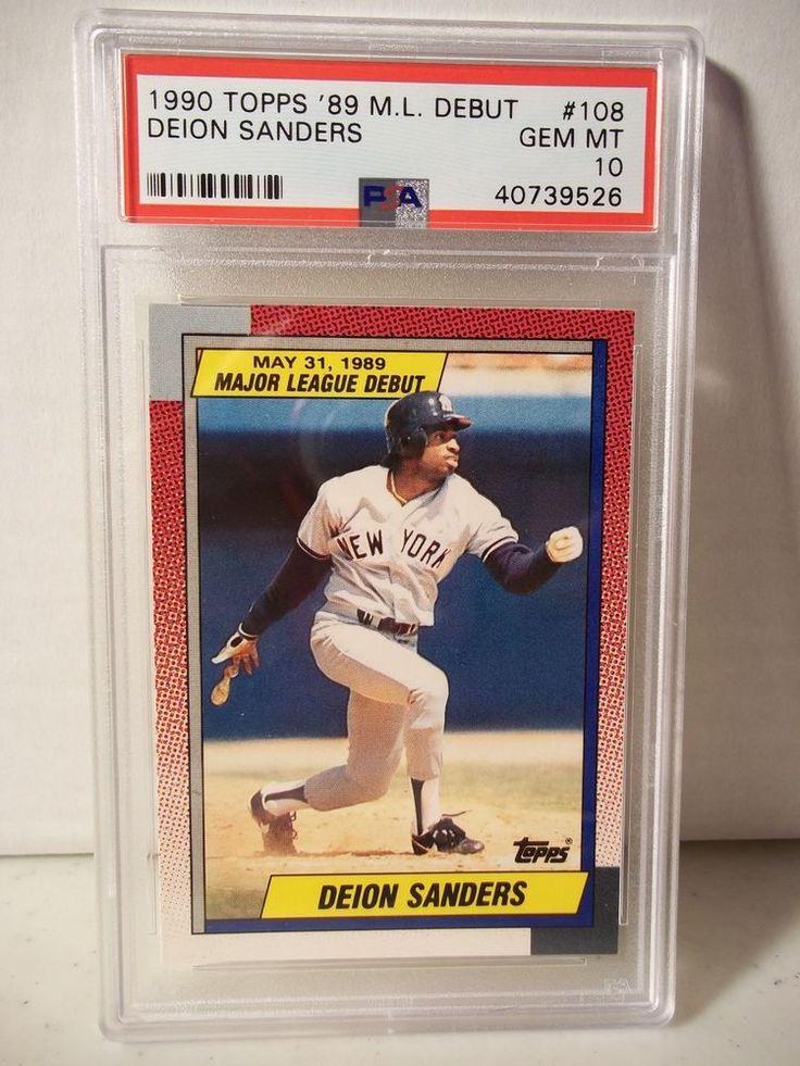 1990 topps debut deion sanders psa gem mint 10 baseball