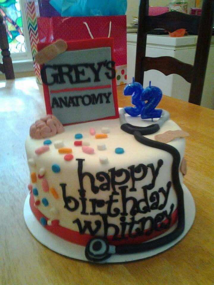 Greys Anatomy Birthday Cake Party Cake Birthday Cake