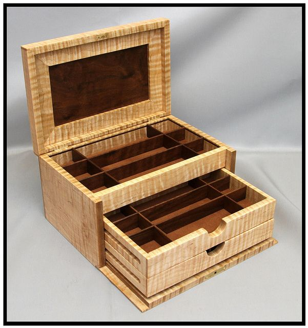 How To Make A Wooden Jewelry Box Delectable 95 Best Jewelry Boxes Images On Pinterest  Woodworking Steamer Inspiration Design