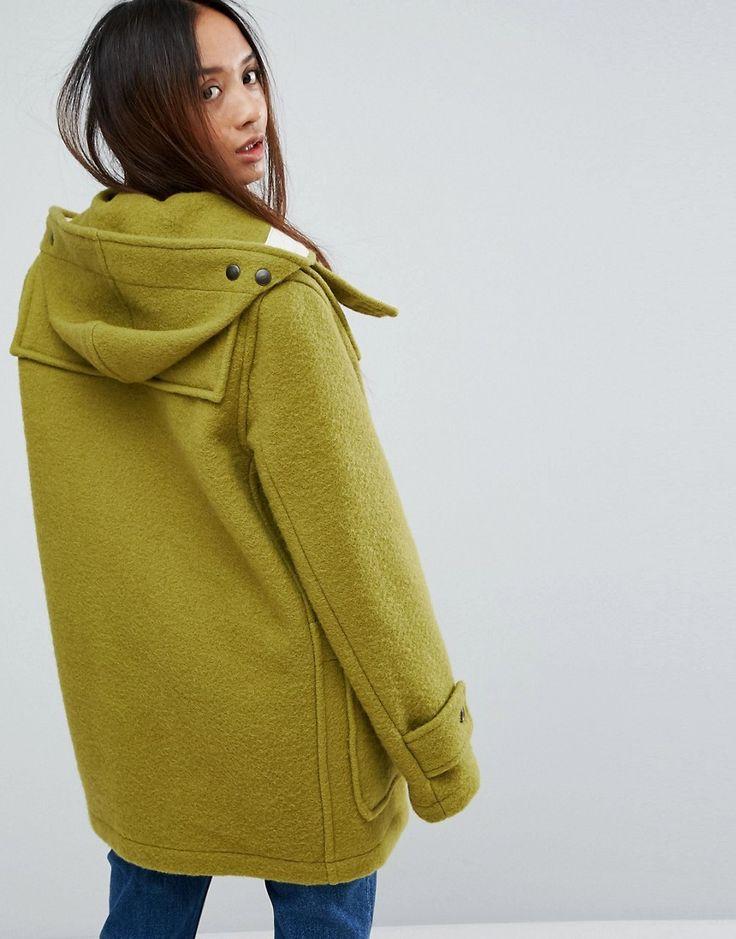 Gloverall Mid Monty Wool Blend Duffle Coat - Green