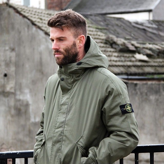 Stone Island 3L Performance Cotton Primaloft Jacket - Olive - Available now at Aphrodite Clothing #stoneisland #winter #mensfashion