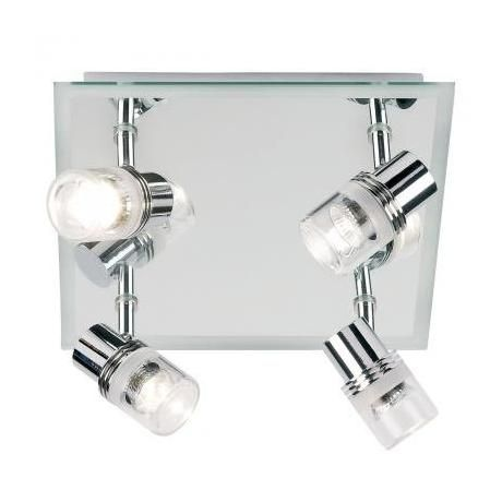 Bathroom A lighting option: Endon - Enluce Mirror Backed 4 Spotlight Ceiling Light Fitting - Chrome - EL-174 - £124.80 + £5.95