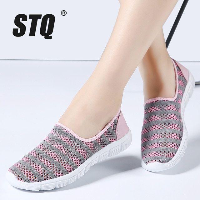 STQ <b>2019 Summer women shoes</b> women Breathable Mesh ...
