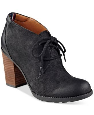 Tommy Hilfiger Duff Lace-Up Shooties $69.99 A feminine take on menswear-inspired style, Tommy Hilfiger's Duff shooties make a chic addition to any outfit with a nod to traditional tailoring.