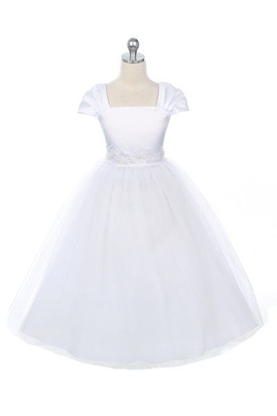 Four Layered Soft Net Dress for Girl - White - White - Shop by Color