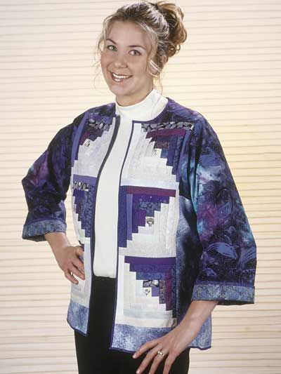 Quilting - Classics - Log Cabin Jacket Free Quilting Pattern
