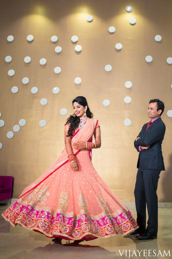 Sravya_Reception ,South Indian, Hyderabadi Telugu bride