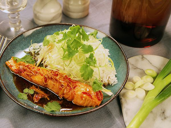 Vietnamesiskt karamelliserad lax   Recept.nu
